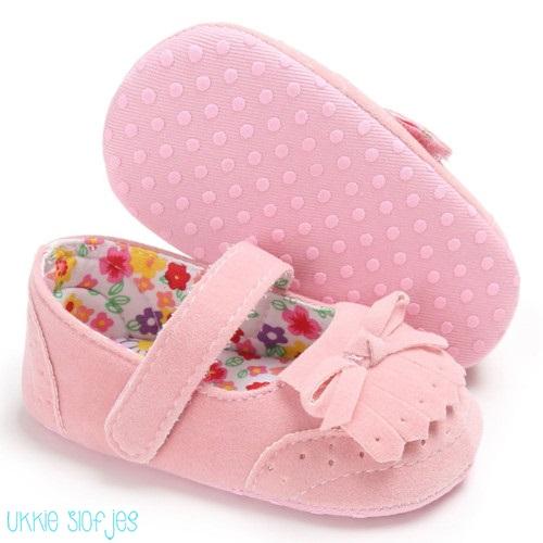 Roze baby ballerina schoenen