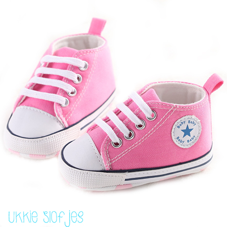Roze baby gympen
