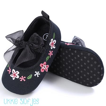 Zwarte baby ballerina schoenen