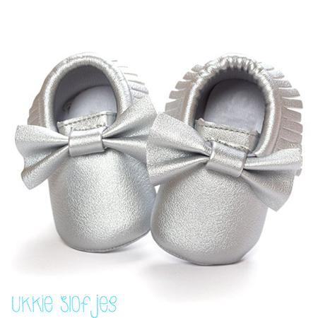 Baby Mocassins babyschoenen zilver