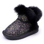 Baby Snowboots Glamour Black Maat 22