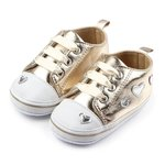Baby Sneakers Heartbeat Gold