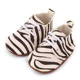 Leren Baby Mocassin Zebra