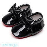 Baby Mocassin Black Lac Ribbon