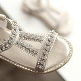 Babysandalen Crystal Silver