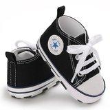Baby Gympen Chuck Black babyschoenen zwart maat 19 20