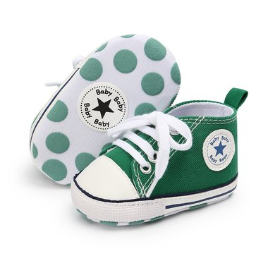 Baby Gympen Chuck Green Maat 18