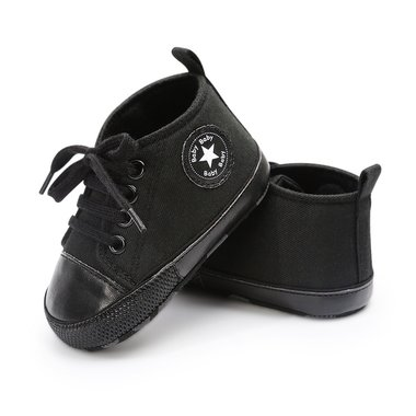 Baby Gympen Chuck Mono Black Maat 19-20