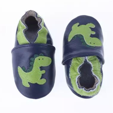 Leren Babysloffen Dino Maat 19