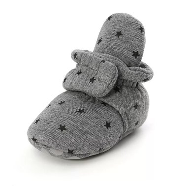 Baby Sloffen Star Grey Maat 18