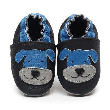 Leren Babysloffen Dog Maat 18