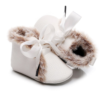 Baby Winter Schoentjes Queen White Maat 17-18