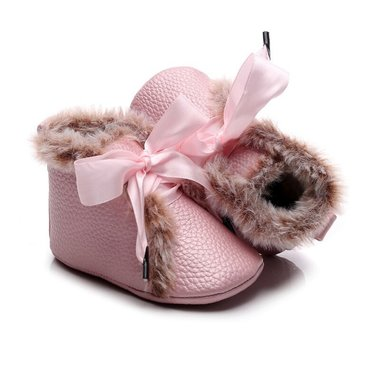 Baby Winter Schoentjes Queen Pink Maat 17-18