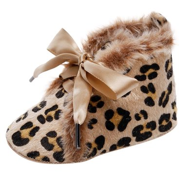 Baby Winter Schoentjes Queen Luipaard Maat 17