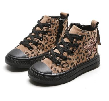 Kinderschoenen Taylor Leopard Brown Maat 21
