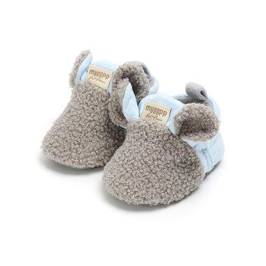 Baby Sloffen Little Sheep Grey Maat 18