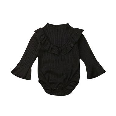 Baby Romper Flare Black Maat 70-90