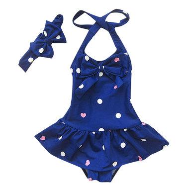 Baby Badpakje Halter Donker Blauw