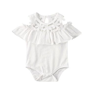 Baby Romper Fiore Wit Maat 70-80