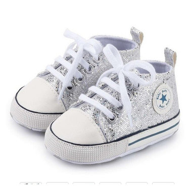 Baby Gympen Disco Silver Maat 18