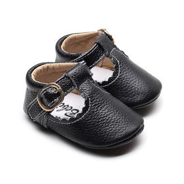 Babyschoenen Amy Leer Black Maat 18