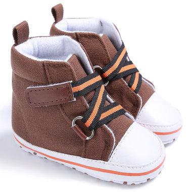 Baby Gympen Buckle Strap Brown Maat 18-19