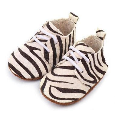 Leren Baby Mocassin Zebra Maat 17-19