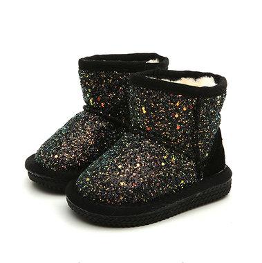 Baby Laarzen Glitter Black Maat 21