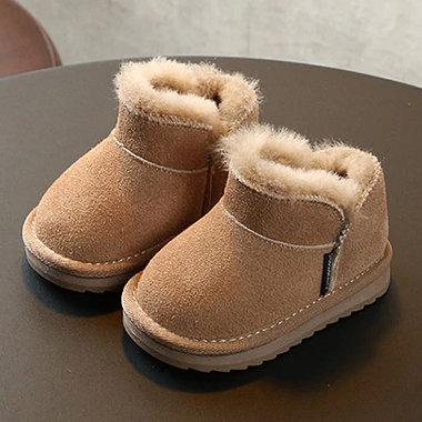 Baby Enkellaarsjes Suede met vachtje Maat 19
