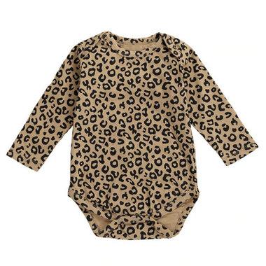 Baby Romper Leopard Bruin Maat 66