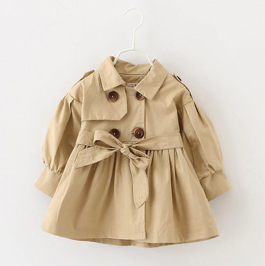 Baby Trenchcoat Naturel Maat 80