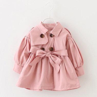 Baby Trenchcoat Roze Maat 80