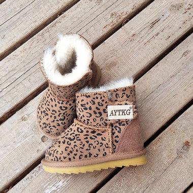 Sheepskin booties Australia Leopard Maat 20