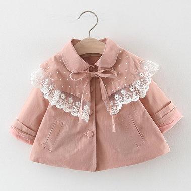 Baby Jasje Roze met kant Maat 80