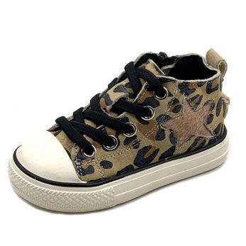 Kinderschoenen Taylor Leopard Leder Maat 20