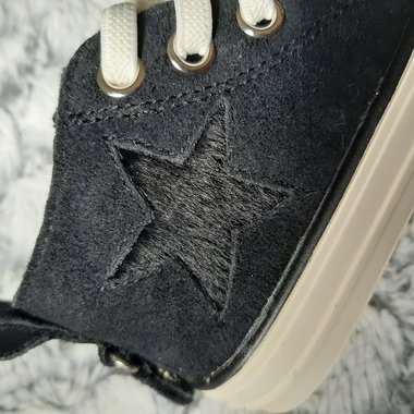 Kinderschoenen Taylor Leder Black Maat 20