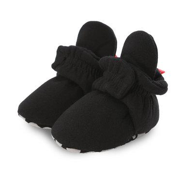 Baby Sloffen Katoen Zwart Maat 18,20