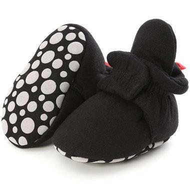 Baby Sloffen Katoen Zwart Maat 18&20