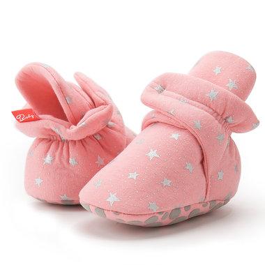 Baby Sloffen Katoen Roze Maat 18,20