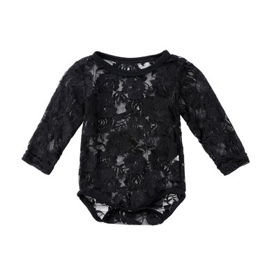 Baby Romper Rose Lace Black Maat 70-80