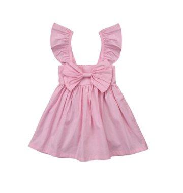 Baby Jurkje Pink Bowknot Maat 70
