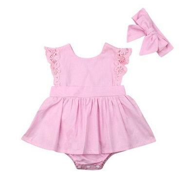 Baby Jurkje Pink Lace Maat 70