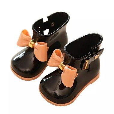 2e kans Baby regenlaarzen Jelly Black Maat 20
