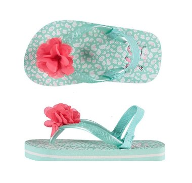XQ Peuter Slippers Pink Flower Maat 19-24