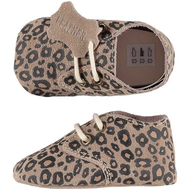 XQ Leather Little Shoes Luipaard Maat 18&20