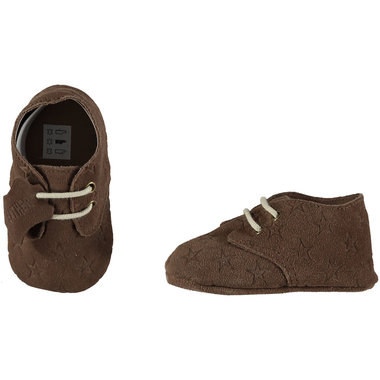 XQ Leather Little Shoes Stars Brown Maat 18&20