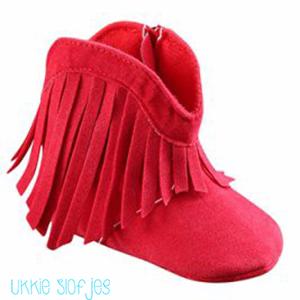 Baby Laarsjes Bohemian Red Maat 20