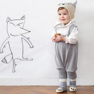 Babysokjes Paw Grey