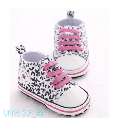 Baby Gympen Leopard White Maat 20