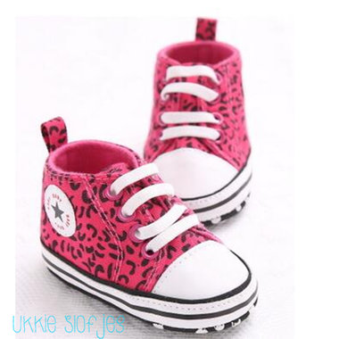 Baby Gympen Leopard Pink Maat 18-21